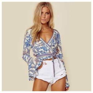 SPELL & THE GYPSY Etienne Wrap Top